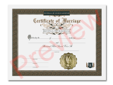 Certificate of Renewal Marriage