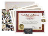 The Classic Wedding Package contains every item an ordained minister needs to perform a beautiful, memorable wedding ceremony that will be remembered for years.