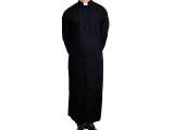 These sleek black cassocks are custom made for Universal Life Church ministers. They are recommended when providing ministerial services at your local church.