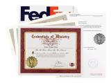 Do you have to perform a wedding in a hurry? The emergency wedding package includes everything an ordained minister needs to officiate a ceremony in a flash.