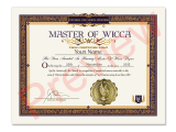 Honorary Wicca Degree