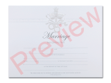 Marriage Certificate - Pearly Dove