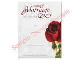 Marriage Certificate - Rose Lace