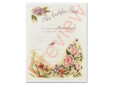 Marriage Certificate - Vintage Floral