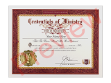 This high-quality credential will allow you to commemorate and display your Universal Life Church ordination to all, featuring the raised seal of the church.