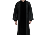 These premium minister robes are stylishly tailored with black velvet trim, cuffed sleeves, and fluting across the shoulders. Perfect for any type of ceremony.