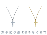 These necklaces are available in either silver or gold colors, there are 13 different charms to choose from, each with a 1 inch pendant on a 24 inch chain.