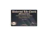 The most convenient way to display your ordination, this wallet-sized credential includes all your ministerial information for quick and easy access to others.