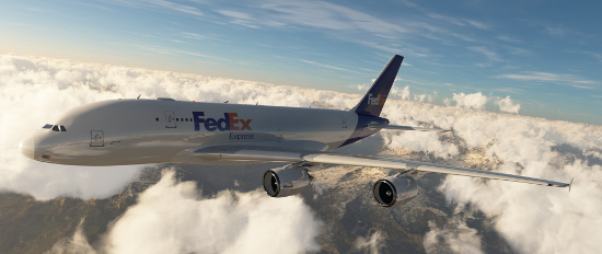 FedEx Airplane in the sky