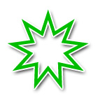 Bahai Faith Nine-pointed Star
