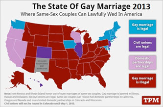 State of gay marriage in 2013
