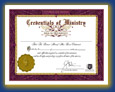 Ordination Credential, Minister License