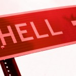 Street sign for hell