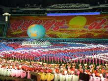 North Korea grathering at National Stadium