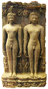 Tirthankaras - founders of Jainism. Rushabha (left) and Mahavir (right)