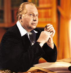 L Ron Hubbard - founder of the Church of Scientology